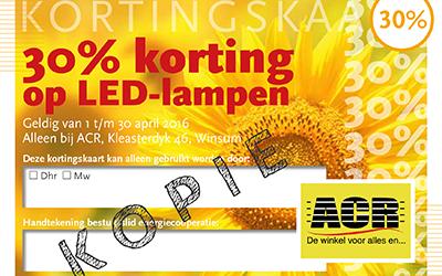 Een maand lang 30% korting op spaarlampen!